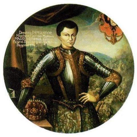 Portrait of False Dmitriy I in coronation robes by artist Szymon Boguszowicz