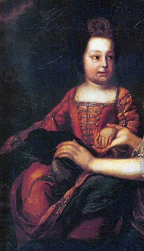 Portrait of Ivan VI of Russia by unkown artist, when the infant Emperor was just above one year old