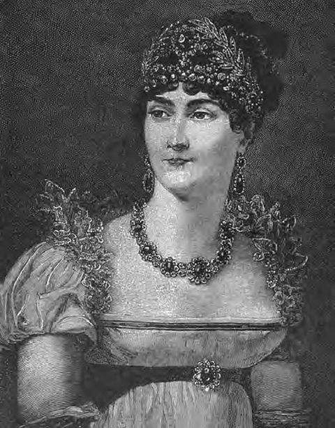 Portrait of Josephine from Ridpath's History of the World published in 1901