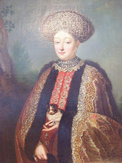 Portrait of Marfa Apraksina by unknown author