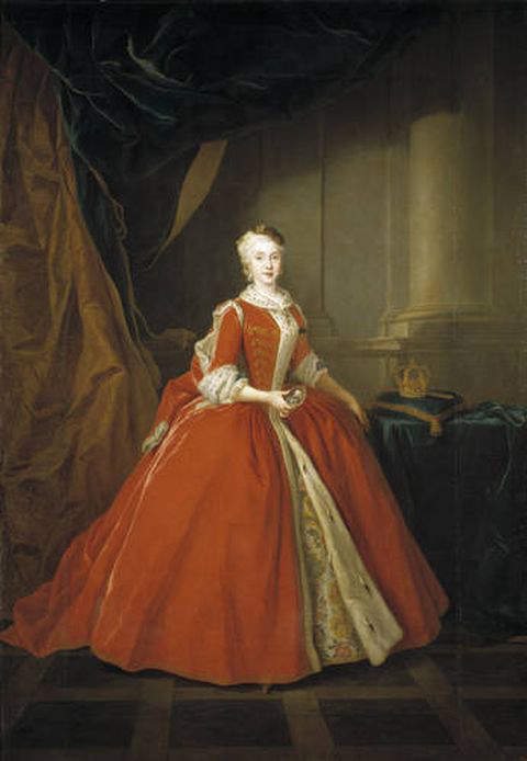 Maria Amalia of Saxony in 1738 - Queen consort of Naples and Sicily from 1738-1759