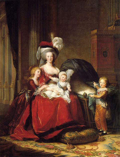 Portrait of Marie Antoinette and her three children, Marie Therese, Louis Charles, and Louis Joseph, also by Elisabeth Vigee Le Brun