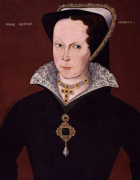 Portrait of Mary I by unknown artist around 1555