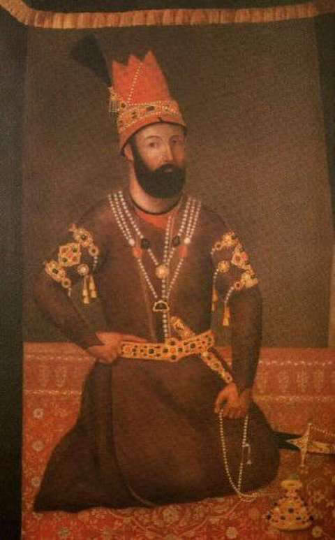 Portrait of Nader Shah from the collection of the Victoria-Albert Museum