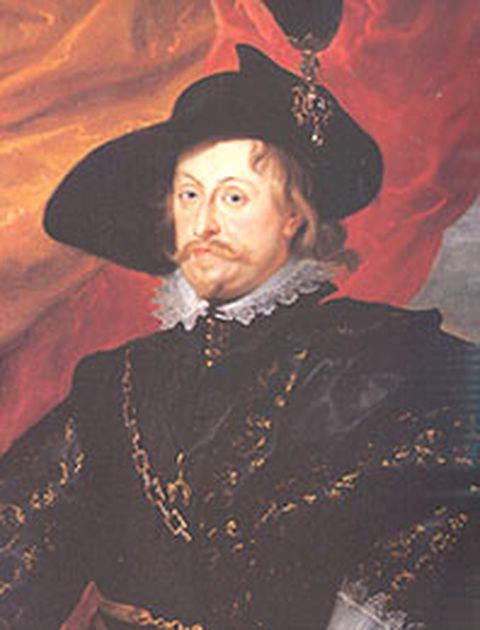 Portrait of Wladyslaw IV Vasa by Peter Paul Rubens, executed on oil on canvas in 1624, during his visit to Brussels as the personal guest of Infanta Isabella Clara Eugenia of Spain