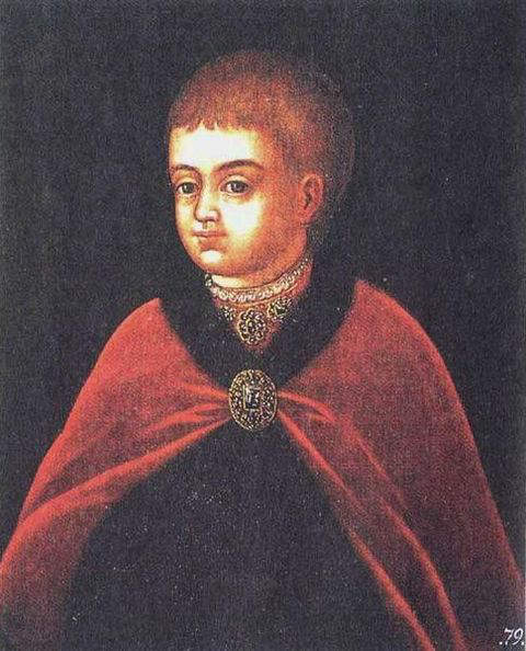 Portrait of young Peter the Great executed by unknown artist in the late 17th-century