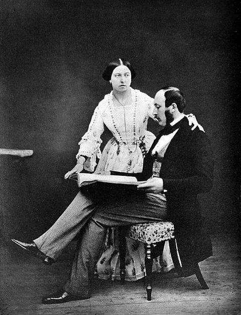 Photograph of Queen Victoria and Prince Albert taken in 1854 by Roger Fenton