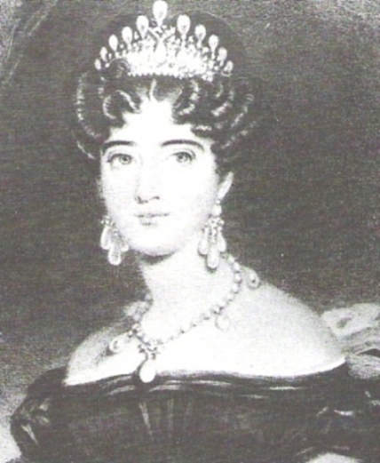 Princess Augusta of Hesse-Cassel wearing the Cambridge Lovers Knot Tiara