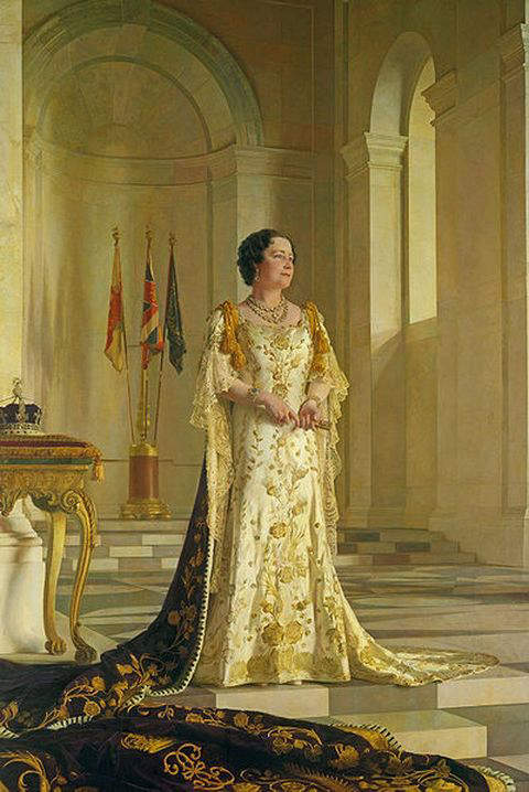 Portrait of Queen Elizabeth by Sir Gerald Kelly executed between 1938 and 1945