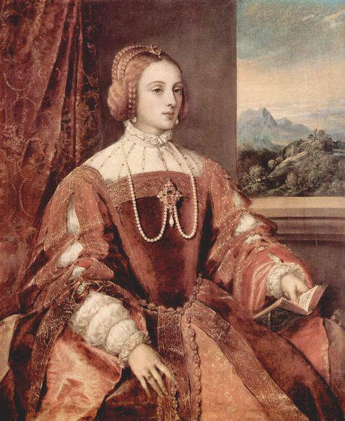 Queen Isabella, queen consort of king Charles V of Spain, Holy Roman  Emperor