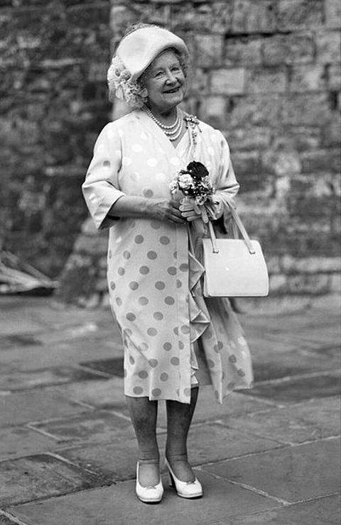 Queen Mother at Dover Castle, Kent - Photograph by Allan Warren