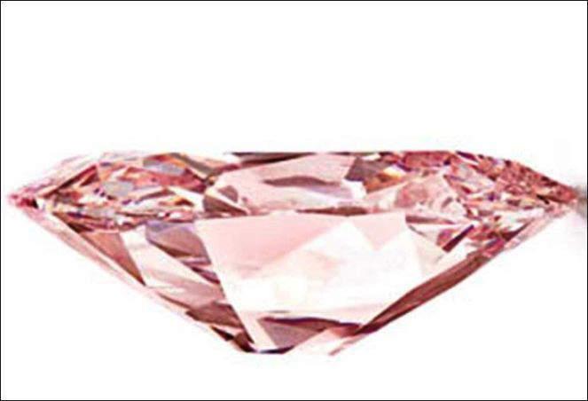 Side View of the cushion-cut Princie Diamond