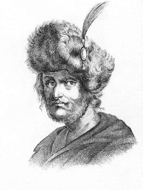 Sketch of False Dmitriy II by unknown artist around 1610