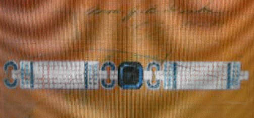Sketch by Cartier of the design for the proposed bracelet incorporating the Ceylon blue sapphire