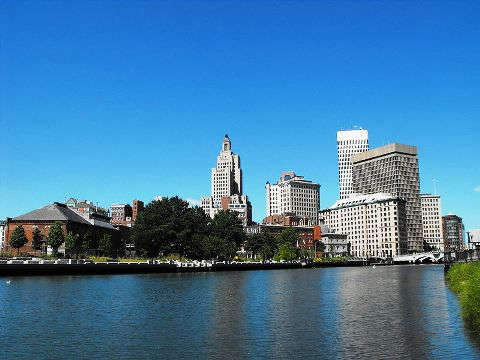 Skyline of modern Providence, Rhode Island