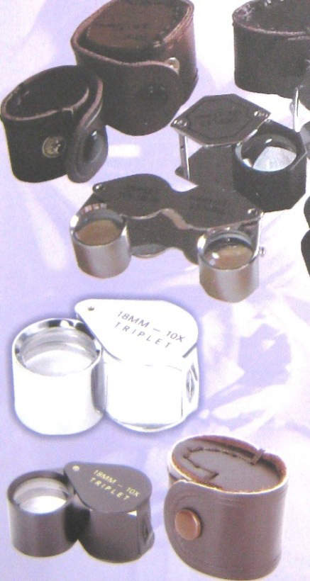 Jewelers loupes and case