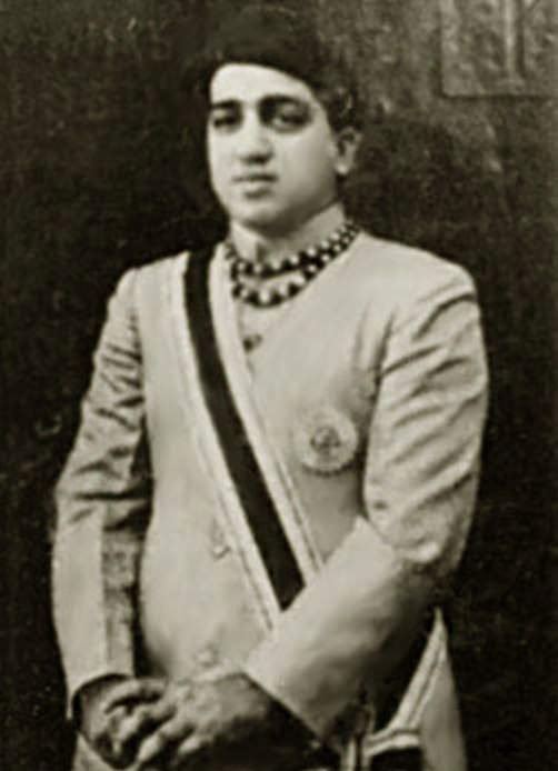 The young Maharajah Pratapsingh Rao Gaekwad