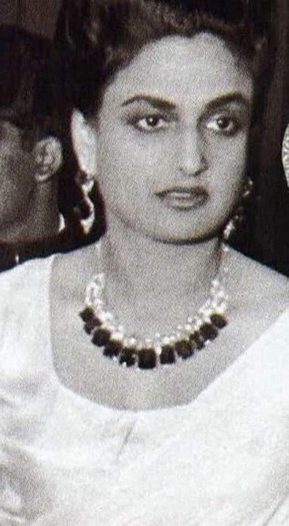The young Maharani Sita Devi of Baroda