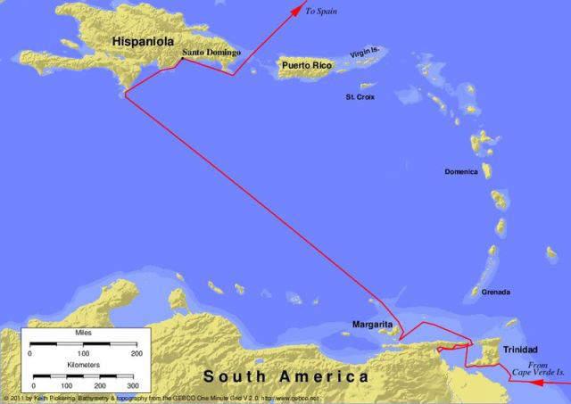 Third Voyage of Columbus - 1498 to 1500