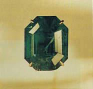 "The ""Carolina Emerald"" aka the ""Tiffany Emerald"" is a 13.14-carat, emerald-cut, dark-green emerald"