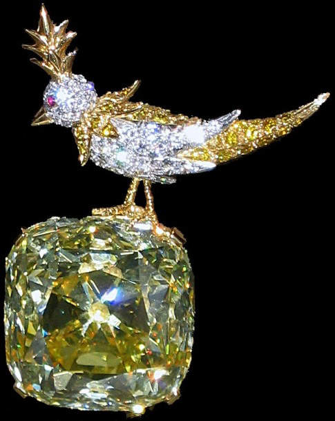 "Tiffany Yellow Diamond in ""Bird on a Rock"""