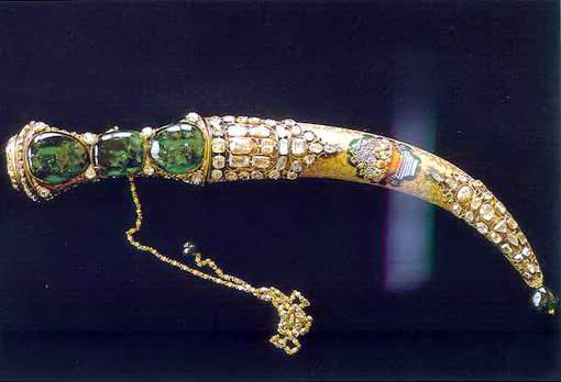 The Topkapi Emerald Dagger from the Topkapi Museum in Istanbul, Turkey