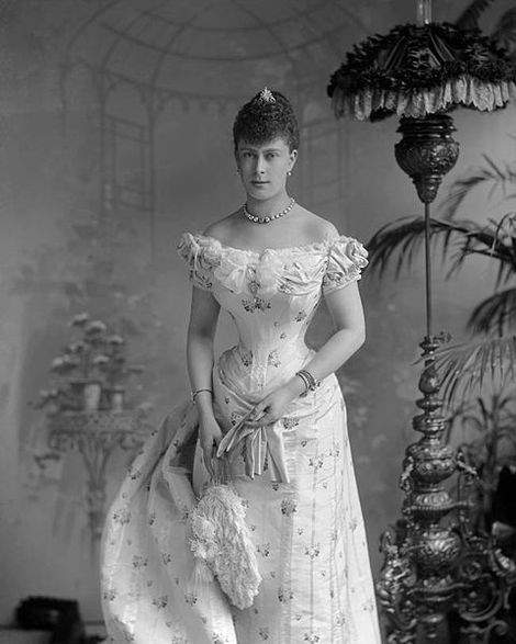 Princess Mary of Teck in 1893, shortly before her marriage to Prince George, the Duke of York
