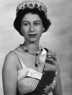 """Her Majesty Queen Elizabeth II wearing the """"Vladimir Tiara"""""""