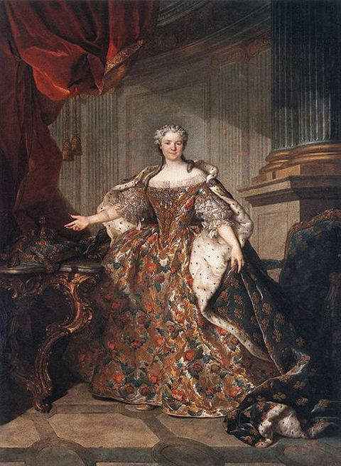 Portrait of Marie Leszczynska as Queen of France by Louis Tocque in 1740