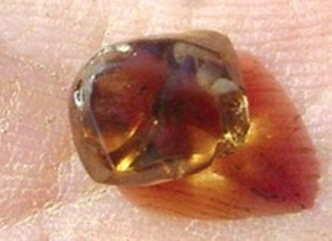 4.38-carat tea-colored diamond discovered by Chad Johnson in 2007