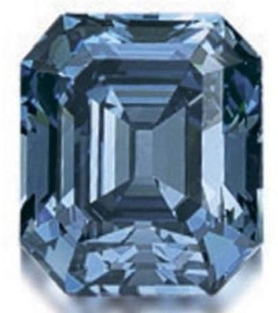 6.04-carat, fancy vivid blue diamond sold at Sotheby's Hong Kong in October 2007 for a record-breaking US$ 7.98 million