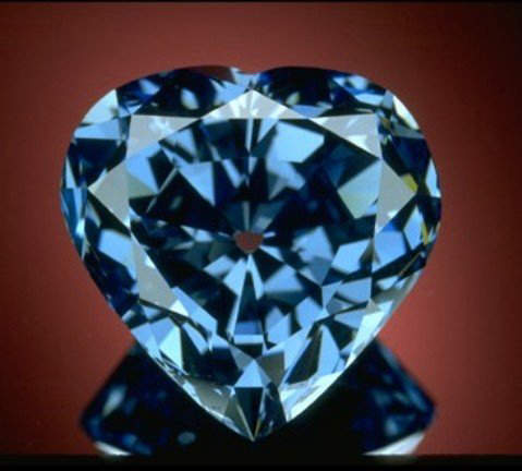 The 30.02-carat Blue Heart diamond the largest heart-shaped blue diamond in the world
