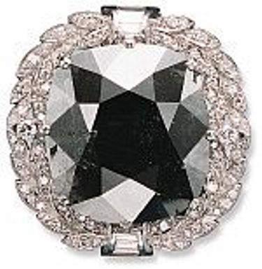 Cartier Black Orloff diamond pendant/brooch setting