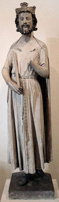 Statuette of Childebert I from the monastery of St. Vincent