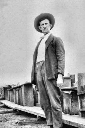 John Wesley Huddleston who first discovered diamonds in the Crater of Diamonds Park site in 1906