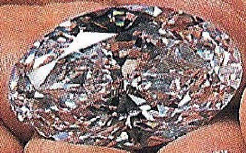 Oval-cut, D-color, internally flawless Beluga Diamond