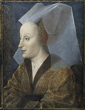 Portrait of probably Isabella of Portugal, wife of Philip the Good